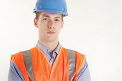 Trabajador de construcción de sexo masculino Fotografía de archivo