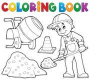 Trabajador de construcción del libro de colorear 2 ilustración del vector