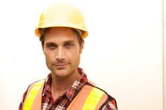 Trabajador de construcción en el trabajo Fotografía de archivo