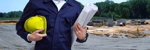 Trabajador de construcción en sitio fotografía de archivo libre de regalías
