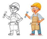 Trabajador de construcción en uniforme Imagen de archivo libre de regalías