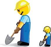 Trabajador de construcción estilizado Foto de archivo libre de regalías