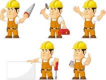 Trabajador de construcción fuerte Mascot Imagen de archivo