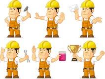 Trabajador de construcción fuerte Mascot 3 Imagen de archivo libre de regalías