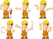 Trabajador de construcción fuerte Mascot 8 Fotos de archivo