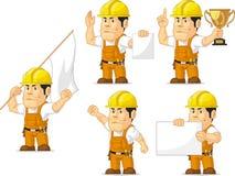 Trabajador de construcción fuerte Mascot 9 Foto de archivo libre de regalías