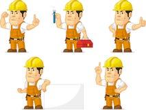 Trabajador de construcción fuerte Mascot 5 Imagenes de archivo