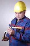 Trabajador de construcción III imagen de archivo libre de regalías