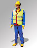 Trabajador de construcción - marioneta Fotografía de archivo libre de regalías