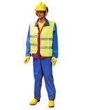 Trabajador de construcción - marioneta Imagen de archivo