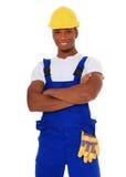 Trabajador de construcción negro Fotografía de archivo libre de regalías