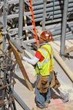 Trabajador de construcción, New York City Foto de archivo libre de regalías