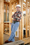 Trabajador de construcción ocasional Imagen de archivo libre de regalías