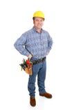 Trabajador de construcción verdadero - confidente Imagen de archivo libre de regalías