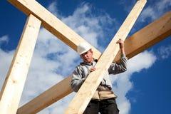 Trabajador de construcción auténtico Fotografía de archivo