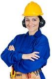 Trabajador de construcción de la señora Fotografía de archivo libre de regalías