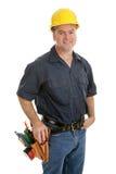 Trabajador de construcción medio Fotografía de archivo libre de regalías