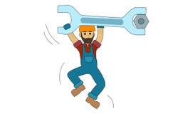 Trabajador de Construction del ingeniero Imagen de archivo