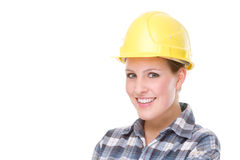 Trabajador de Contruction (mujer) imagen de archivo