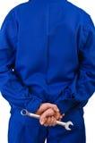 Trabajador de cuello azul. Foto de archivo libre de regalías
