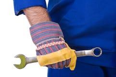 Trabajador de cuello azul. Fotos de archivo