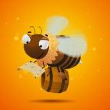 Trabajador de la abeja que busca la miel Imágenes de archivo libres de regalías