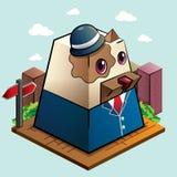 Trabajador de la caja de perro Foto de archivo libre de regalías