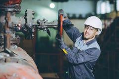Trabajador de la central eléctrica Imagen de archivo