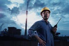 Trabajador de la central eléctrica Fotografía de archivo libre de regalías