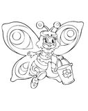 Trabajador de la mariposa ilustración del vector