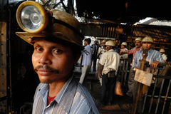 Trabajador de las minas de carbón fotografía de archivo libre de regalías