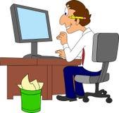 Trabajador de las TIC ilustración del vector