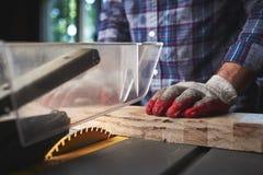 Trabajador de madera Imagen de archivo libre de regalías