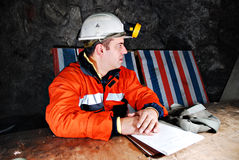 Trabajador de mina Imágenes de archivo libres de regalías