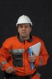 Trabajador de mina con el fichero Imagen de archivo