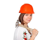 Trabajador de mujer ucraniano fotos de archivo