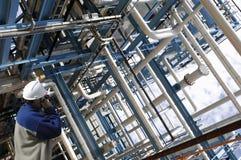 Trabajador de petróleo y del gas Fotos de archivo libres de regalías