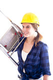 Trabajador de sexo femenino Foto de archivo libre de regalías