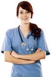 Trabajador de sexo femenino del cuidado médico imagen de archivo libre de regalías