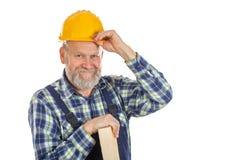 Trabajador de sexo masculino confiado Foto de archivo