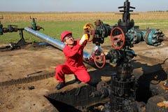 Trabajador del aceite Fotos de archivo libres de regalías
