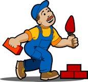 Trabajador del constructor. stock de ilustración