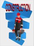 Trabajador del constructor con las herramientas Fotografía de archivo