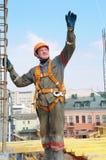 Trabajador del constructor en el emplazamiento de la obra Fotos de archivo libres de regalías