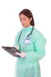 Trabajador del cuidado médico con los documentos Imagen de archivo