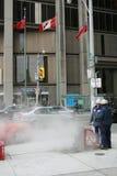 Trabajador del fontanero del undergroud de Toronto Imagen de archivo libre de regalías