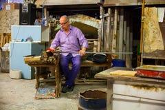 Trabajador del horno de Murano Fotografía de archivo