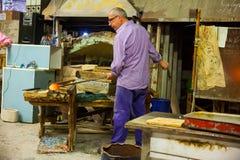 Trabajador del horno de Murano Fotografía de archivo libre de regalías
