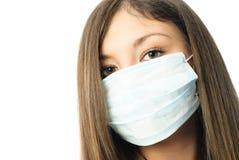 Trabajador del hospital que desgasta la máscara protectora Imagenes de archivo