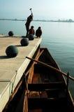Trabajador del puerto fotografía de archivo